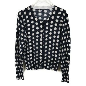 Banana Republic Cotton Cardigan Polka Dots XL